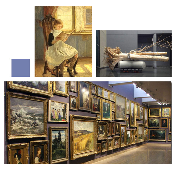 Selection of art shown at the Frye Art Museum
