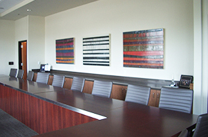 Conference room art at the Washington State Auto Dealers Association