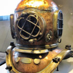 diver mask on display at MOHAI