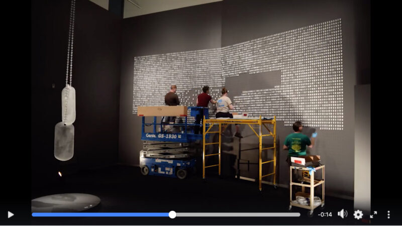 Image from the Bellevue Arts Museum video on Facebook